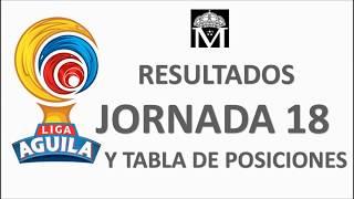 Liga Águila jornada 18 Resultados y tabla de posiciones