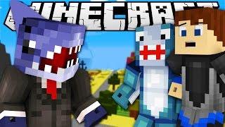 Minecraft Adventures -  Sharky &  Scuba Steve SHARK ATTACK IN BIKINI BOTTOM w/ Sharky & Scuba Steve
