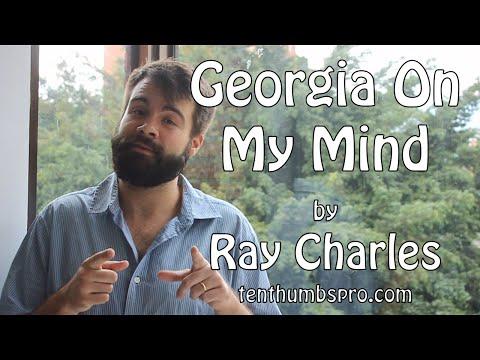Georgia On My Mind - Ray Charles Easy Ukulele Jazz Standard Song Tutorial
