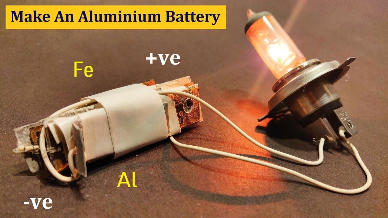 How to Make 5V Aluminium Battery at Home DIY -  घर पर एक एल्यूमीनियम बैटरी कैसे बनाने के लिए