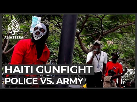 Haiti gunfight: Protesting police exchange fire with army