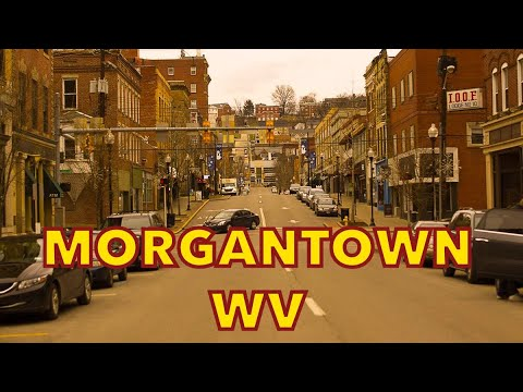 Driving MORGANTOWN  4K West Virginia