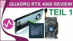 Nvidia Quadro RTX 4000 Review - Technische Details, Tear Down und Labortest - Teil 1
