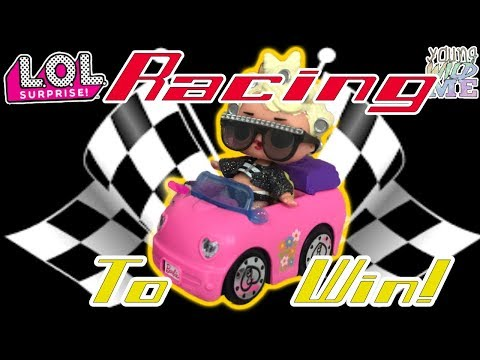 LOL Surprise Off To The Races LOL  Dolls Racing BARBIE Cars! LOL Surprise Champion + LOL Doll TWINS!