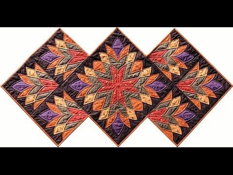 Cleopatra's Fan quilt video by Shar Jorgenson