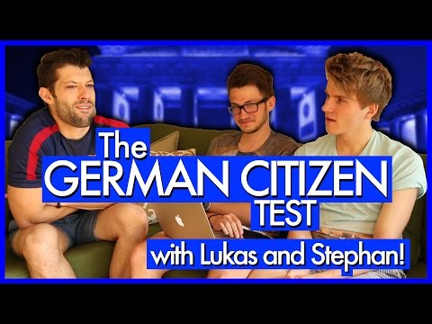 The German Citizen Test (with Lukas and Stephan!)