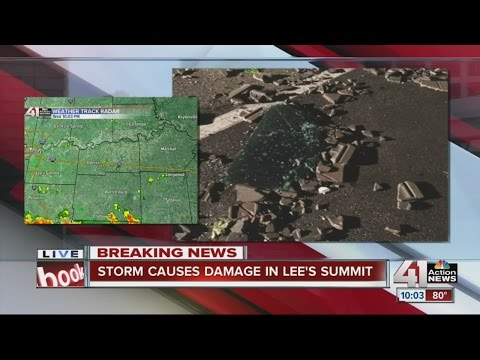 Storm causes damage to buildings, cars in Lee's Summit
