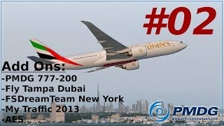 Download Video Let´s Play FSX [Flug 11 Part 2] PMDG B777-200LR Dubai - New York german MP3 3GP MP4