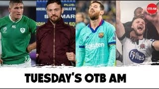 LIVE | #OTBAM: Andy Lee talks Fury, Ireland vs. Japan, Irish Strikers, GAA next move, RWC2019, NFL |