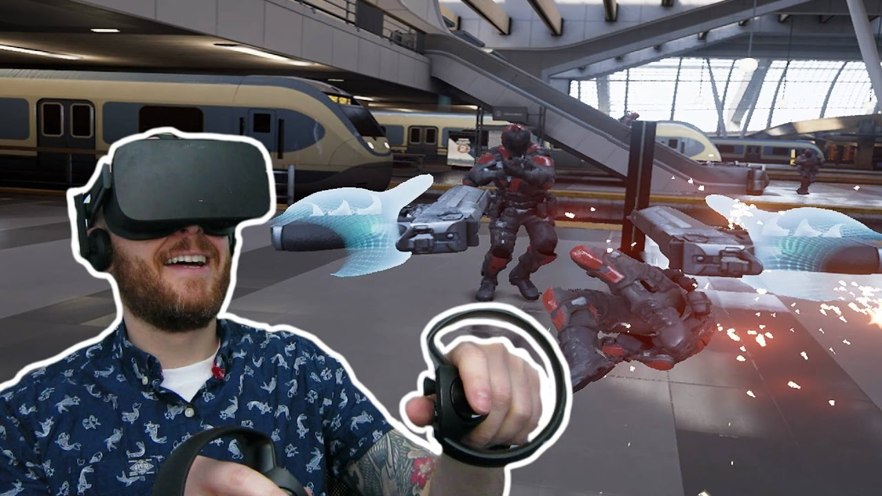 THEY CAME AFTER ME FOR LITTERING!! Bullet Train Oculus Rift & Touch Gameplay - Virtual Reality