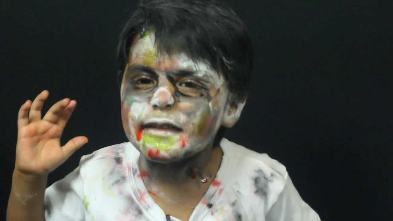 Maquillaje de zombie para ni os zombie makeup - Como maquillarse de zombie ...