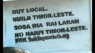 Building Markets Timor Leste on local TV channel TVTL