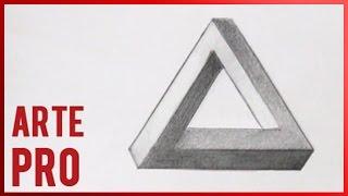Como dibujar un triangulo imposible - ilusion optica