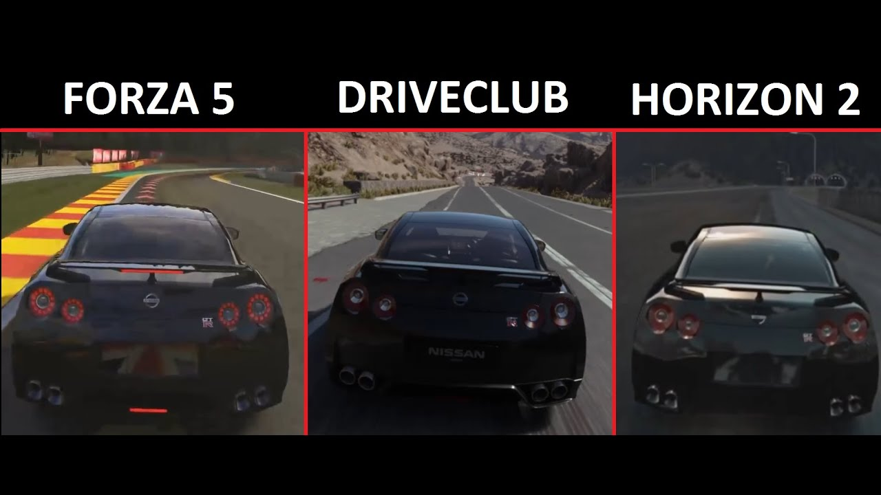 driveclub vs forza horizon 2 vs forza motorsport 5. Black Bedroom Furniture Sets. Home Design Ideas