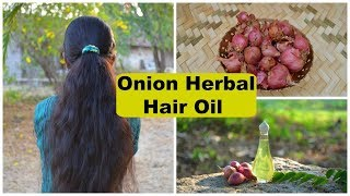 Onion Herbal Hair Growth Oil | Indian Hair Growth Secret For Long, Thick & Fast Hair Growth