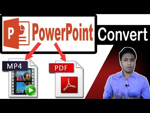 Convert Powerpoint To MP4 Video | PowerPoint To PDF Bangla Tutorial | PPT To MP4, Pptx To PDF