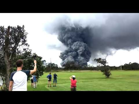 Ash Plume from Volcano Golf & Country Club