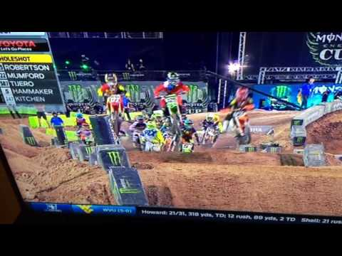 2016 Monster Energy Cup Supermini moto1 first lap