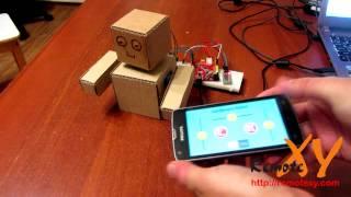 Картонный робот под управлением Android-смартфона через библиотеку RemoteXY