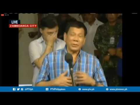 Pagbisita ni Pres Duterte sa mga sugatang sundalo sa Camp Navarro General Hospital, Zamboanga City