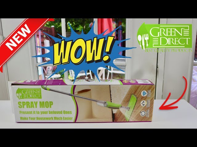 😍  Spray Mop  Review  ❤️   GREEN DIRECT  (New) 2018  ✅