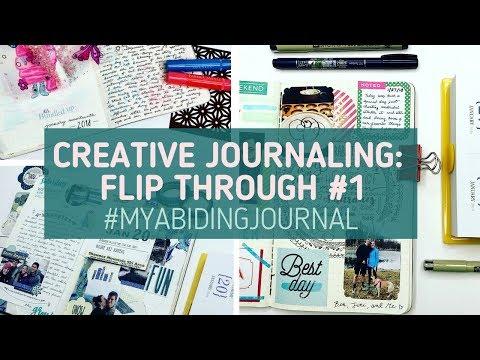 Creative Journal Flip Through #1: Entries 1-31 | #MyAbidingJournal