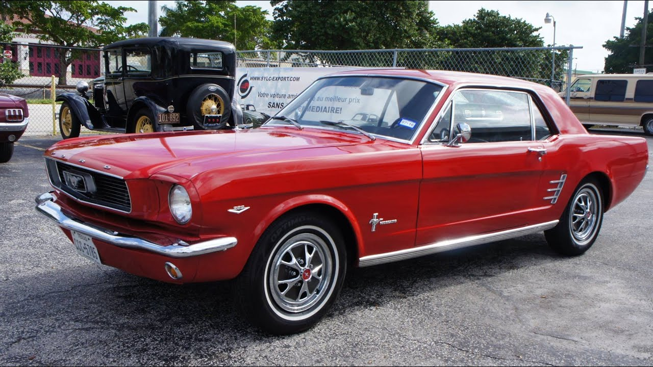 voitures americaines par sylc export 1966 ford mustang coupe youtube. Black Bedroom Furniture Sets. Home Design Ideas