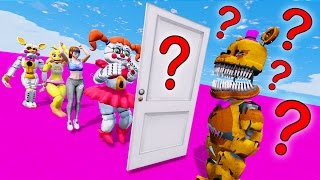 GUESS NIGHTMARE FREDBEAR'S MYSTERY DATE! (GTA 5 Mods For Kids FNAF Funny Moments)