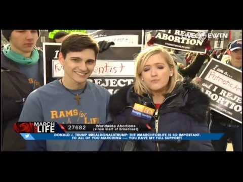 Anthony Jones EWTN Interview March for Life 2017