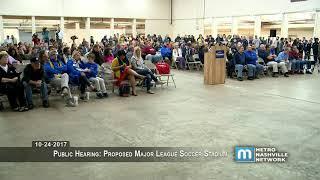 Public Hearing: Proposed Major League Soccer Stadium