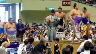 2014年8月16日(土)、札幌巡業に行って来ました! 東幕内土俵入りの模...