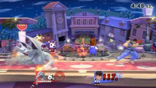 Online / With Friends / Smash Town and City Ryu, Charizard.