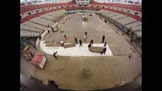 CAJUNDOME Conversion Time Lapse from UL Basketball to IceGators Hockey 2-22-13