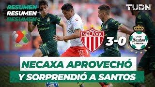 Resumen Necaxa 3 - 0 Santos | Liga Mx Apertura 2019  Jornada 5 | TUDN