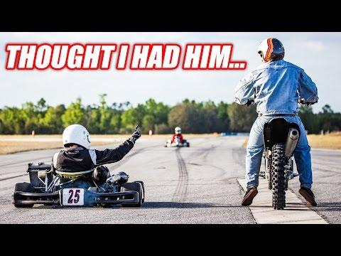 WELL DAMN! Shifter Kart vs. Yamaha YZ 450F!