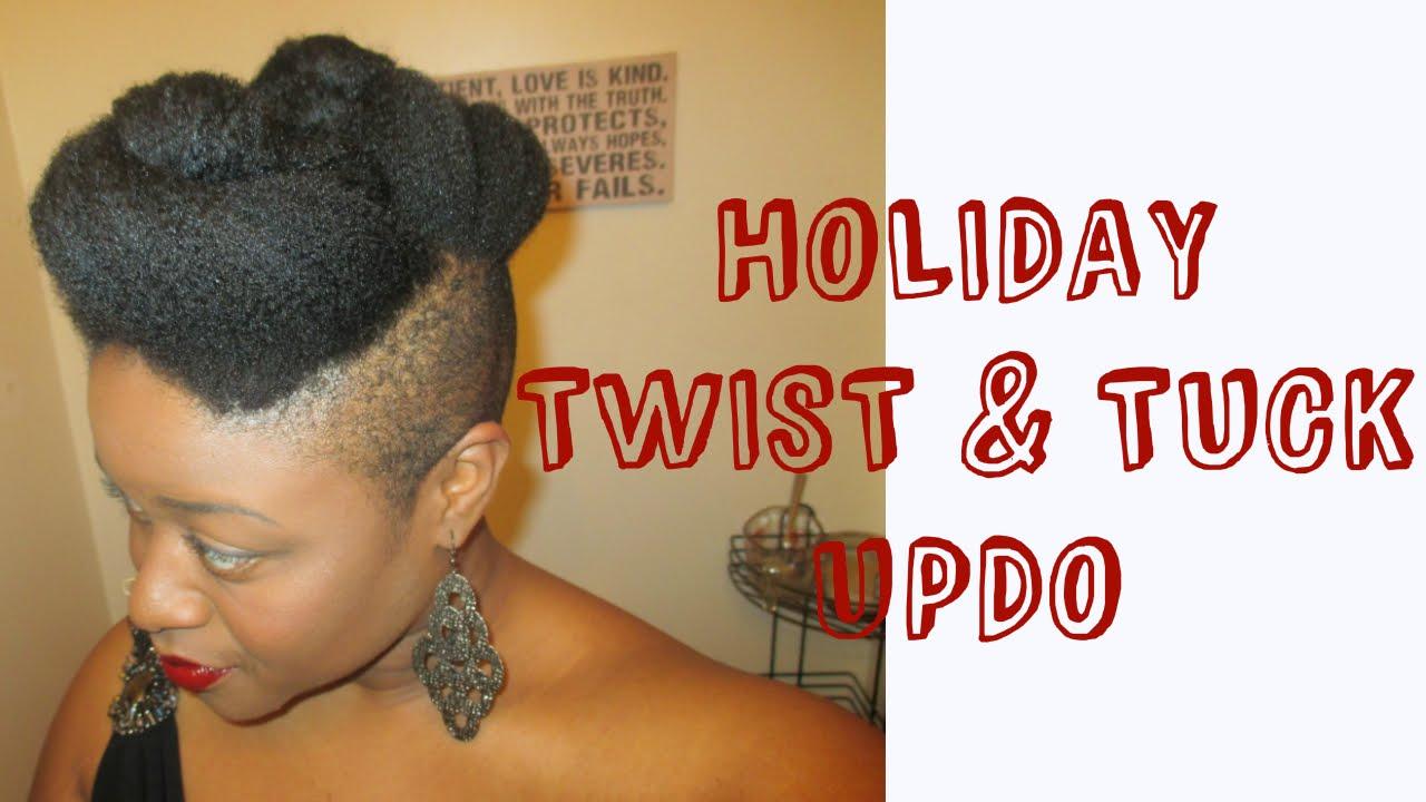 natural hair holiday updo- shaved
