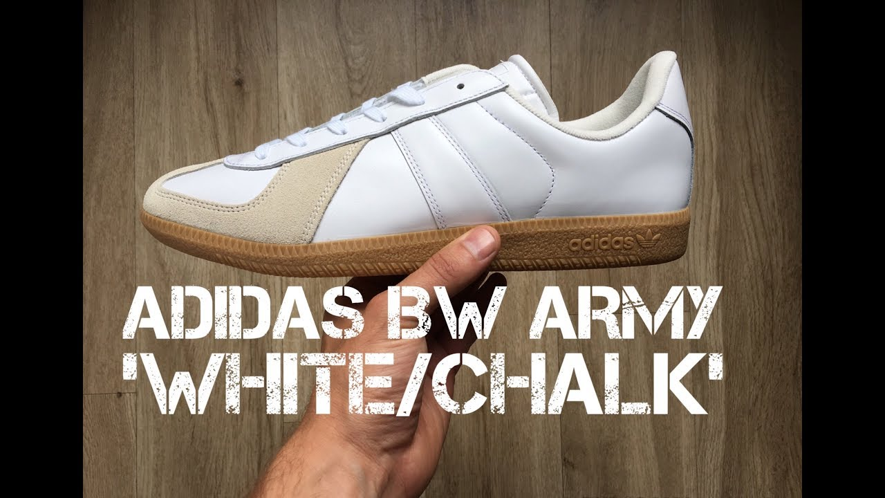buy online e96e0 6a964 Adidas BW Army WhiteChalk  UNBOXING  ON FEET  fashion shoes  brand  new 2017  HD