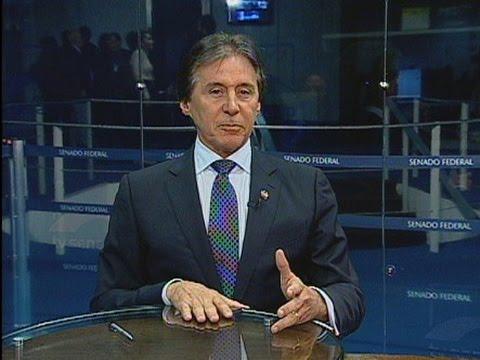 Líder do PMDB no Senado, Eunício Oliveira, comenta atual fase da operação Lava Jato