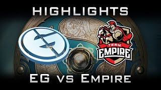 Eg vs empire ti7 elimination highlights the international 2017 dota 2
