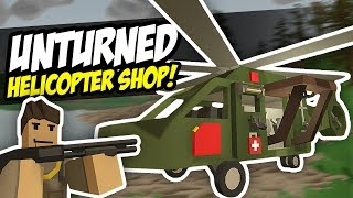 HELICOPTER SHOP - Unturned Flying Store | Kidnapped Again! (Funny Moments)