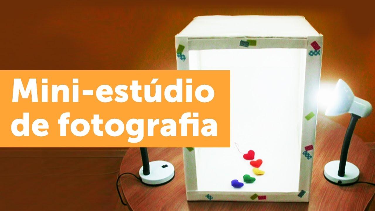 78a63cf200a Como montar um mini estúdio de fotografia - YouTube