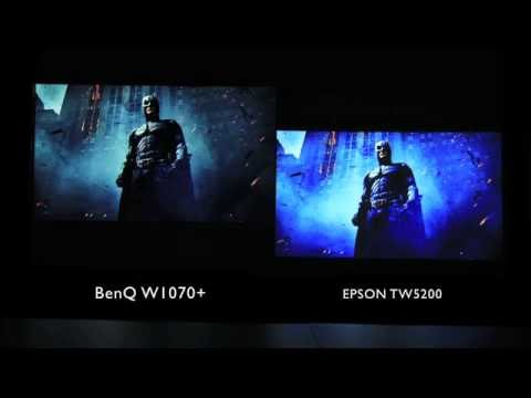 BenQ W1070+ home video projector side by side video