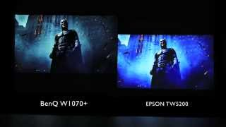BenQ W1070+ Home Projector Side by Side