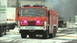 Pożar obory w Poniszowicach - 03.02.2013