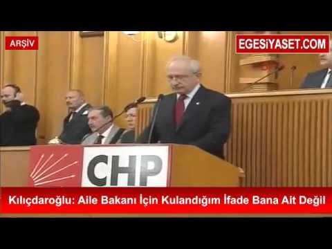 Kılıçdaroğlu: Aile Bakanı İçin Kullandığım İfade Bana Ait Değil