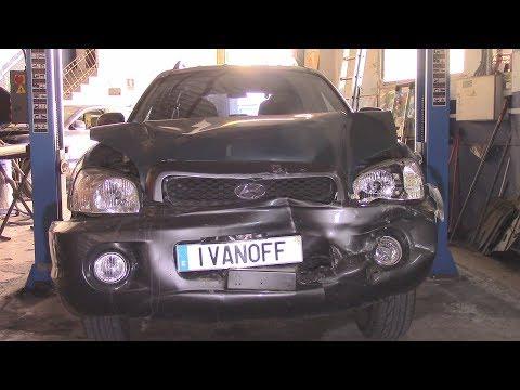 У Иванова подгорело за полировку фар  Ремонт  по жести Hyundai Santa Fe 2003