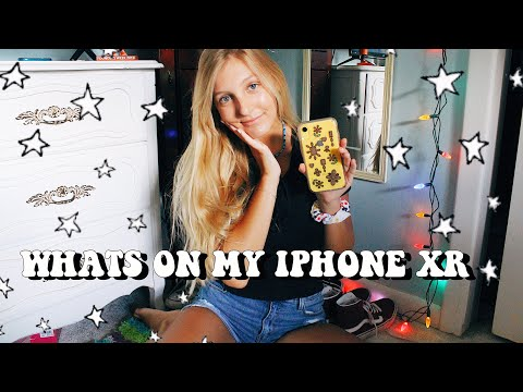 WHATS ON MY YELLOW IPHONE XR 2019 | Callie Pearl thumbnail