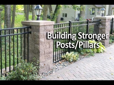 How To Add Strength And Ility Posts Or Pillars