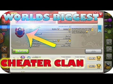COC {WORLD'S BIGGEST CHEATER CLAN FOUND} coc