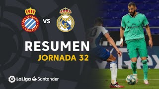 Resumen de RCD Espanyol vs Real Madrid (0-1)